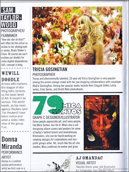 Press Feature: Stella Magazine 100 Things To Look Forward To In 2009