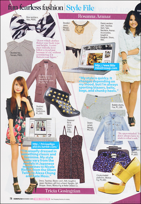 Press Feature: Cosmopolitan November 2009
