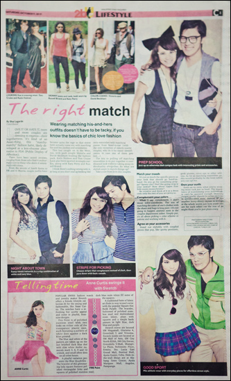 Photo Shoot: Inquirer 2bu Lifestyle October 9, 2010