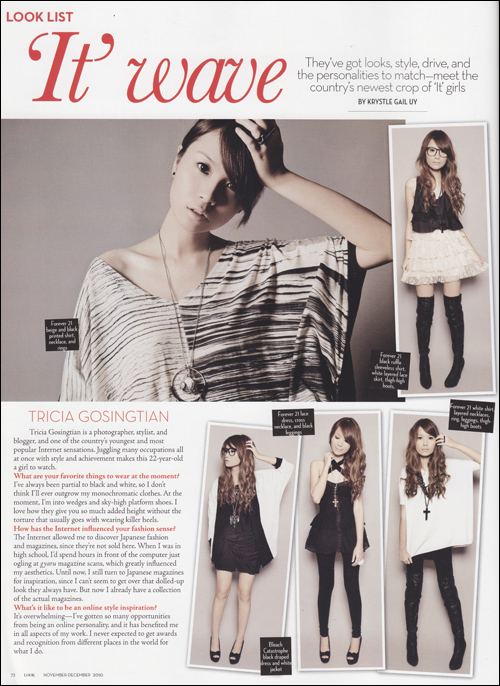 Press Feature: Look Magazine January 2011