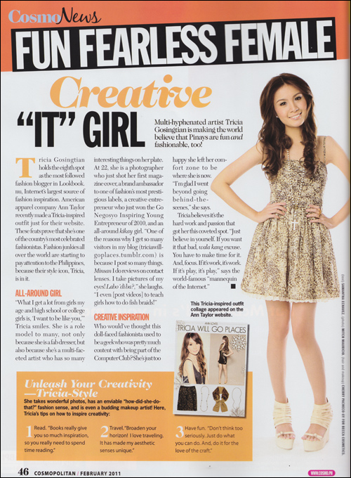 Press Feature: Cosmopolitan February 2011