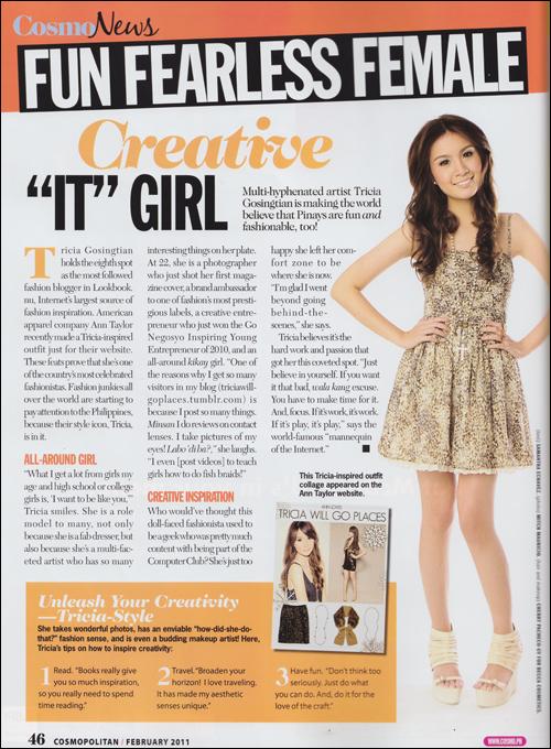Press Feature: Cosmopolitan February 2011