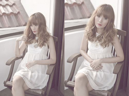 white dress + red lips