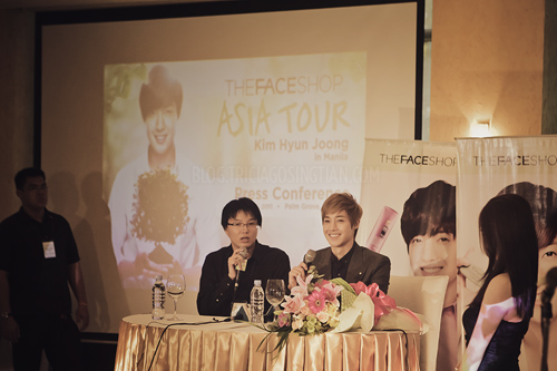 Kim Hyun Joong Press Con for The Face Shop