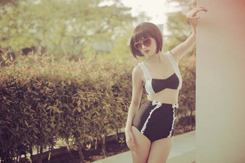Tricia Gosingtian I Love Koi Swimwear Style Line Collaboration Fashion Design Photography