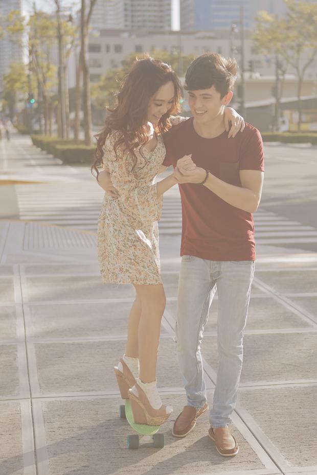 Actor Jamie Reid and his girlfriend Erica Villongco