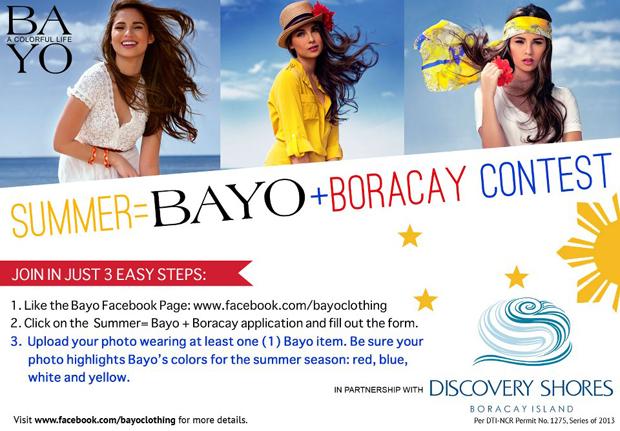 Bayo Boracay Contest