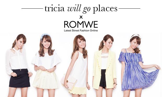 Tricia Gosingtian for Romwe